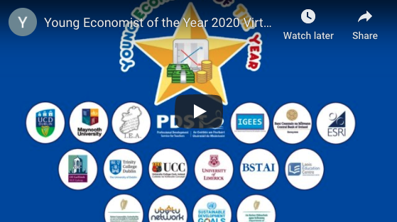 Young Economist of the Year 2020 Virtual National Awards Ceremony